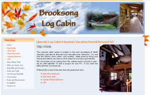 Brooksong Log Cabin near Asheville NC