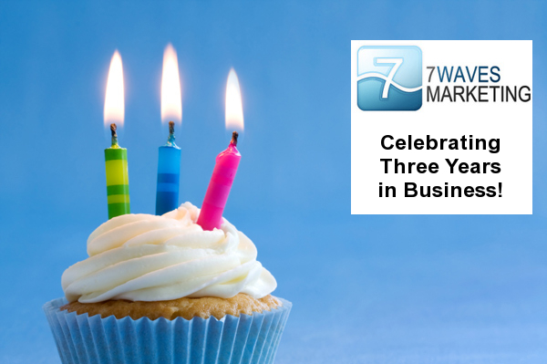 7 Waves Marketing Celebrates 3 Years in Business